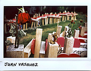 A wilted rose is placed on a wooden cross for Juan A, Vasquez, 35-year-old, at a makeshift memorial in Chicago in this photo taken June 29, 2017. Vasquez died from his injuries on January 11, 2017, 11 days after being shot in the head.