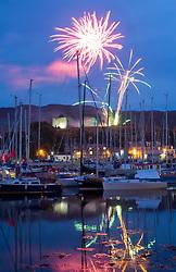 Silvers Marine Scottish Series 2017<br /> Tarbert Loch Fyne - Sailing Day 3<br /> <br /> Fireworks Tarbert Harbour