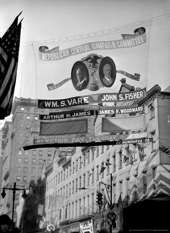 Election signs, Philadelphia, Pennsylvania, 1926