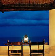 Terrace of Hotel Raya, Panarea, Aeolian Islands, Italy