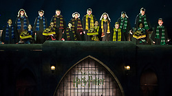 """Hogwarts choir performs during the opening of """"the Wizarding World of Harry Potter"""" at the Hogwarts castle of the Universal Studios in Hollywood of Los Angeles, the United States, April 5, 2016. EXPA Pictures © 2016, PhotoCredit: EXPA/ Photoshot/ Yang Lei<br /> <br /> *****ATTENTION - for AUT, SLO, CRO, SRB, BIH, MAZ, SUI only*****"""