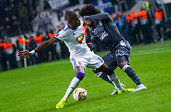 November 8, 2018 - Budapest, Hungary - Loic Nego (L) and Diego Biseswar (R) in action during the UEFA Europa League Group L match between MOL Vidi FC and FC PAOK at Groupama stadium on Nov 08, 2018 in Budapest, Hungary. (Credit Image: © Robert Szaniszlo/NurPhoto via ZUMA Press)