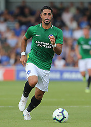 """Brightons Berem Kayal during a pre season friendly match at The Cherry Red Records Stadium, Kingston Upon Thames. PRESS ASSOCIATION Photo. Picture date: Saturday July 21, 2018. Photo credit should read: Mark Kerton/PA Wire. EDITORIAL USE ONLY No use with unauthorised audio, video, data, fixture lists, club/league logos or """"live"""" services. Online in-match use limited to 75 images, no video emulation. No use in betting, games or single club/league/player publications."""