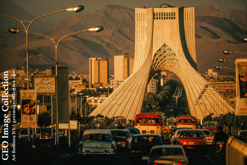 The Shahyad Tower points traffic into the heart of the city.