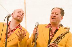 Backing Vocals Alex Douglas and Big John Fordham..9 September 2012.Image © Paul David Drabble