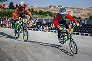 #151 during practice at the 2018 UCI BMX World Championships in Baku, Azerbaijan.