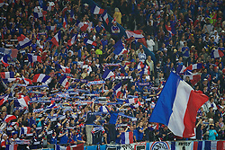 PARIS, FRANCE - Sunday, July 3, 2016: France supporters during the UEFA Euro 2016 Championship Semi-Final match against Iceland at the Stade de France. (Pic by Paul Greenwood/Propaganda)