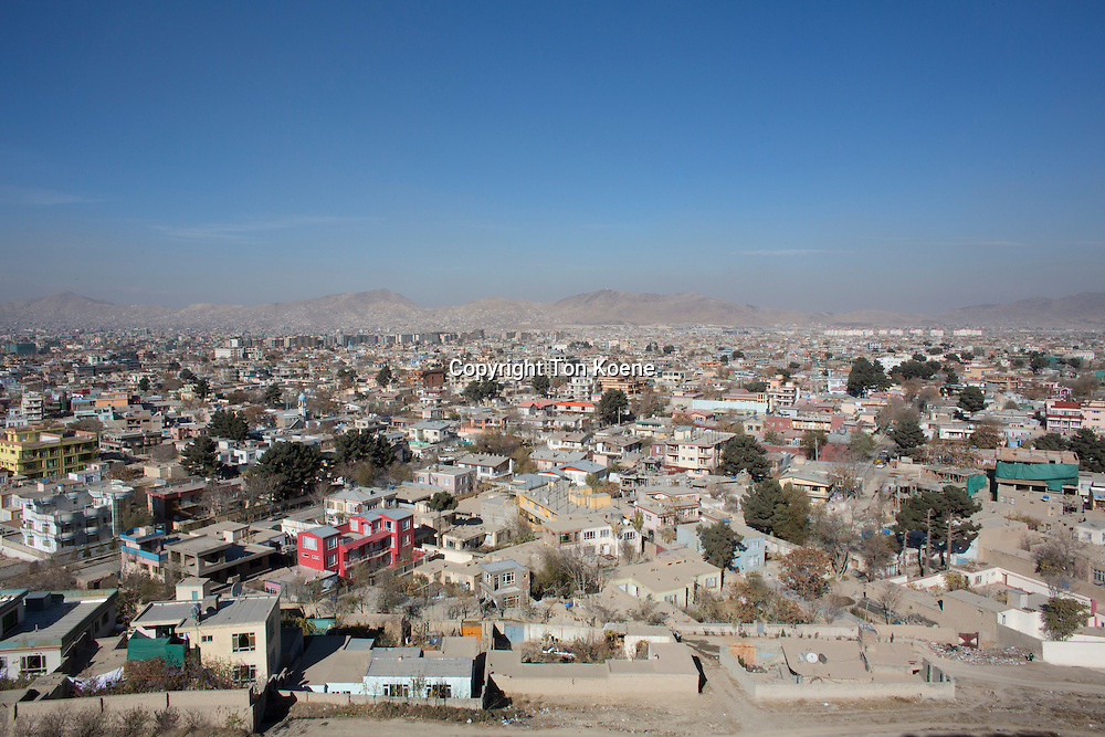 view on the city of Kabul, Afghanistan.