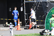 Dylan Morris after being red carded and sent off. ISPS Handa Men's Premiership football match between Eastern Suburbs AFC and Hamilton Wanderers at Madills Farm in Auckland. Sunday 21 February 2021. © Coyright image by Andrew Cornaga / www.photosport.nz