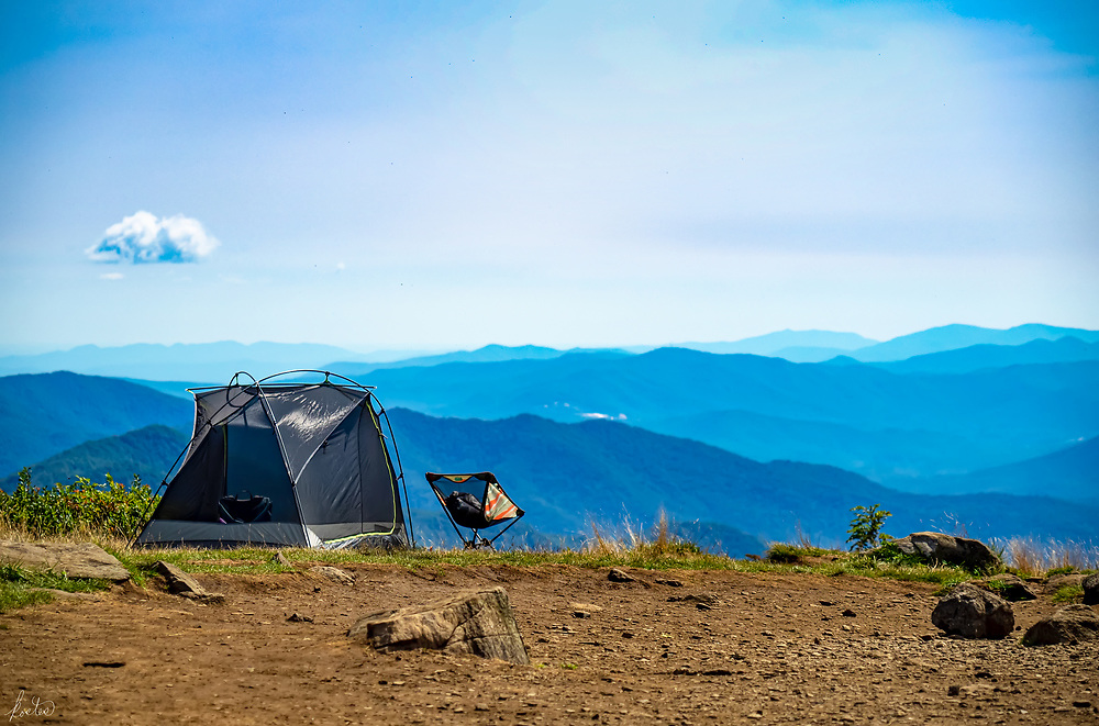 A campsite up on Roan Mountains, which straddles North Carolina and Tennessee in the Blue Ridge Mountains.