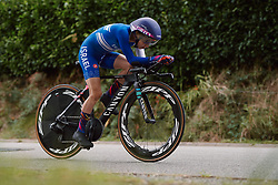 Omer Shapira (ISR) at the 2020 UEC Road European Championships - Elite Women ITT, a 25.6 km individual time trial in Plouay, France on August 24, 2020. Photo by Sean Robinson/velofocus.com