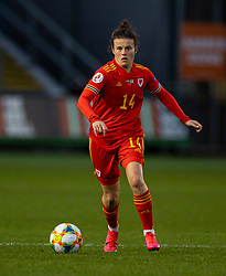 NEWPORT, WALES - Thursday, October 22, 2020: Wales' Hayley Ladd during the UEFA Women's Euro 2022 England Qualifying Round Group C match between Wales Women and Faroe Islands Women at Rodney Parade. Wales won 4-0. (Pic by David Rawcliffe/Propaganda)