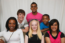 Multiracial group of teenagers.