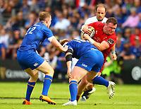 Rugby Union - 2018 Guiness Pro14 - Semi-Final: Leinster vs. Munster<br /> <br /> Dave Kilcoyne (Munster) is tackled by Andrew Porter (Leinster), at RDS Arena, Dublin.<br /> <br /> COLORSPORT/KEN SUTTON