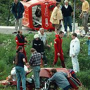 Ongeval Muidertrekvaart Muiderberg met beknelling en trauma helicopter