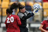 04 December 2011: Stanford's Emily Oliver (19) and Mariah Nogueira (20). The Stanford University Cardinal defeated the Duke University Blue Devils 1-0 at KSU Soccer Stadium in Kennesaw, Georgia in the NCAA Division I Women's Soccer College Cup Final.