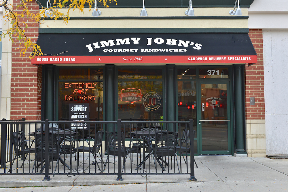 Exterior view of Jimmy John's Gourmet Sandwiches.