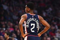 December 29, 2018 - Los Angeles, CA, U.S. - LOS ANGELES, CA - DECEMBER 29: Los Angeles Clippers Guard Shai Gilgeous-Alexander (2) looks on during a NBA game between the San Antonio Spurs and the Los Angeles Clippers on December 29, 2018 at STAPLES Center in Los Angeles, CA. (Photo by Brian Rothmuller/Icon Sportswire) (Credit Image: © Brian Rothmuller/Icon SMI via ZUMA Press)