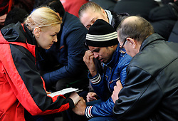 A relative of a victim of the crashed plane waits at the Rostov-on-Don airport, in Russia, March 19, 2016. A Boeing 737-800 passenger plane from Dubai crashed at the destination airport in southwestern Russia early Saturday, killing all the 62 people on board, authorities said. EXPA Pictures © 2016, PhotoCredit: EXPA/ Photoshot/ Sputnik<br /> <br /> *****ATTENTION - for AUT, SLO, CRO, SRB, BIH, MAZ, SUI only*****