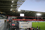 Guinness Pro14 rugby match, Ospreys v Scarlets at the Liberty Stadium in Swansea, South Wales on Saturday 7th October 2017.<br /> pic by Andrew Orchard, Andrew Orchard sports photography.