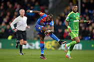 Yannick Bolasie of Crystal Palace takes a shot at goal. Barclays Premier league match, Crystal Palace v Sunderland at Selhurst Park in London on Monday 23rd November 2015.<br /> pic by John Patrick Fletcher, Andrew Orchard sports photography.