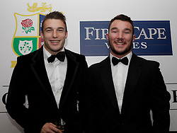© Licensed to London News Pictures. 31/10/2012. London, U.K. .web stegmann (l) and George Lowe (r ) of the harlequins joined the star studded line-up for the Ugo Monye Halloween Ball supported by FIRSTCAPE WINE at Grovesnor House Hotel, Park Lane, London this evening (31/10/2012). An auction was held to raise money for Ugo Monye's selected charities: Help a capital child and The Rugby players benevolent fund..Photo credit : Rich Bowen/LNP