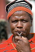 Musician at cultural festival in Bamenda, Cameroon, West Africa