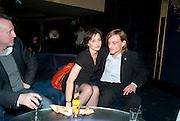 KRISTEN SCOTT THOMAS; MACKENZIE CROOK, Press night for Jerusalem. Apollo Theatre. Shaftesbury ave. After party at the Cafe de Paris. London. 10 February 2010