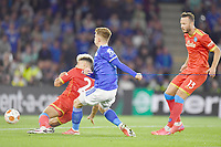 Football - 2021 / 2022 UEFA Europa League - Group C, Round One - Leicester City vs Napoli - King Power Stadium - Thursday 16th September 2021<br /> <br /> Leicester City's Harvey Barnes scores his side's second goal.<br /> <br /> COLORSPORT/Ashley Western