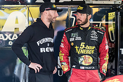October 5, 2018 - Dover, DE, U.S. - DOVER, DE - OCTOBER 05: Martin Truex Jr driver of the #78 5-hour ENERGY/Bass Pro Shops Toyota chats with a crew member prior to the start of Fridays' practice for the Monster Energy NASCAR Cup Series Gander Outdoors 400 on October 05, 2018, at Dover International Speedway in Dover, DE. (Photo by David Hahn/Icon Sportswire) (Credit Image: © David Hahn/Icon SMI via ZUMA Press)