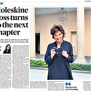 Moleskine's new CEO Daniela Riccardi portrayed in Milan for The Sunday Times - August 2020.