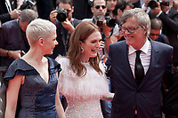 Michelle Williams, Julianne Moore and Todd Haynes at the Wonderstruck gala screening,  at the 70th Cannes Film Festival Wednesday May 17th 2017, Cannes, France. Photo credit: Doreen Kennedy