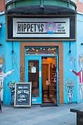 Hippetys Café, an alternative hangout, in Temple Bar on 3rd April 2017 in Dublin, Republic of Ireland. Dublin is the largest city and capital of the Republic of Ireland.