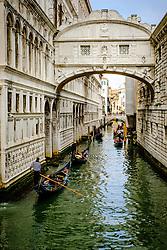 Gondolas on a canal in Venice, Italy<br /> <br /> (c) Andrew Wilson | Edinburgh Elite media