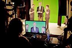 José Fortunati durante gravação em estúdio para o programa eleitoral de televisão. FOTO: Jefferson Bernardes/Preview.com