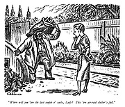 """""""Where will you 'ave the last couple o' sacks, Lady? This 'ere air-raid shelter's full."""""""