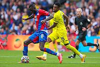 Football - 2021/2022  Premier League - Crystal Palace vs Brentford - Selhurst Park  - Saturday 21st August 2021.<br /> <br /> Jeffrey Schlupp (Crystal Palace) with ball at Selhurst Park.<br /> <br /> COLORSPORT/DANIEL BEARHAM