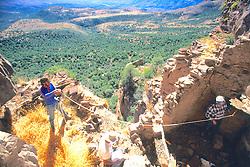 Richard Lang & Leslie Jahnke Measuring Cliff Dwelling, Mustang Ridge, Apache Reservation