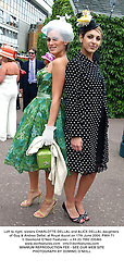 Left to right, sisters CHARLOTTE DELLAL and ALICE DELLAL daughters of Guy & Andrea Dellal, at Royal Ascot on 17th June 2004.PWH 71