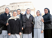 Nuns at The Colosseum, Rome, Italy.