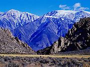 Boundary Peak, 13,143 feet, highest point in Nevada, viewed from west of Benton, California.