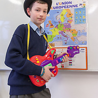 Fearghal Burke from Mary Immaculate Secondary School, Lisdoonvarna, showing his study into the geopgraphy of voting patterns in the Eurovision Song Contest