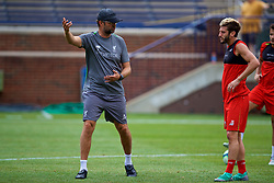 ANN ARBOR, USA - Friday, July 27, 2018: Liverpool's manager Jürgen Klopp and Adam Lallana during a training session ahead of the preseason International Champions Cup match between Manchester United FC and Liverpool FC at the Michigan Stadium. (Pic by David Rawcliffe/Propaganda)