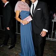 NLD/Amsterdam/20100929 - Pink Ribbon Gala 2010, Koert jan de bruijn en partner Charlotte Huiskamp