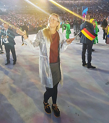 """Angelique Kerber releases a photo on Instagram with the following caption: """"Thinking about all these special moments from #Rio2016 on #OlympicDay!! \u2728"""". Photo Credit: Instagram *** No USA Distribution *** For Editorial Use Only *** Not to be Published in Books or Photo Books ***  Please note: Fees charged by the agency are for the agency's services only, and do not, nor are they intended to, convey to the user any ownership of Copyright or License in the material. The agency does not claim any ownership including but not limited to Copyright or License in the attached material. By publishing this material you expressly agree to indemnify and to hold the agency and its directors, shareholders and employees harmless from any loss, claims, damages, demands, expenses (including legal fees), or any causes of action or allegation against the agency arising out of or connected in any way with publication of the material."""