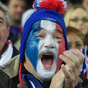 A french fan during the New Zealand V France, Pool A match during the IRB Rugby World Cup tournament. Eden Park, Auckland, New Zealand, 24th September 2011. Photo Tim Clayton...