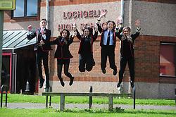 Lochgelly High School Exam results<br /> <br /> Lochgelly High Students, Mason Smith, Beth Adam, Katie Wilson, Charlotte Alexander and Katie Brennan<br /> <br /> (c) David Wardle | Edinburgh Elite media