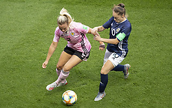 Kirsty SMITH (SCO), Estefania BANINI (ARG) in action during the match of 2019 FIFA Women's World Cup France group D match between Scotland and Argentina, at Parc Des Princes stadium on June 19, 2019 in Paris, France. Photo by Loic Baratoux/ABACAPRESS.COM