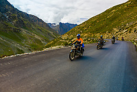 Motoryclists, Leh-Manali Highway, Himachal Pradesh, India.