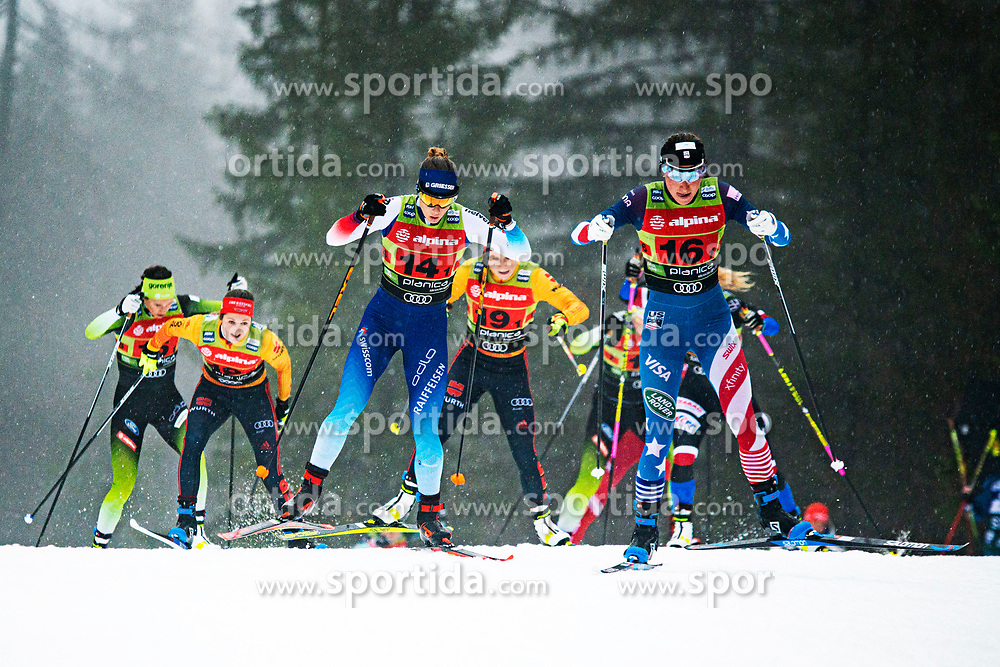 Sophie Caldwell (USA), Laurien Van Der Graaf (SUI) during Ladies team sprint race at FIS Cross Country World Cup Planica 2019, on December 22, 2019 at Planica, Slovenia. Photo By Peter Podobnik / Sportida